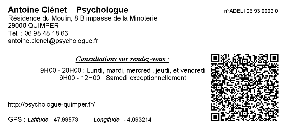 table des mati u00e8res du site psychologique d u0026 39 antoine cl u00e9net